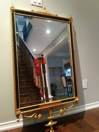 2 rectangular wooden framed accent mirror  AJAX
