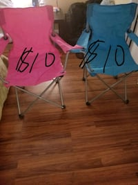 two red and blue camping chairs Houston, 77035