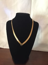 gold plated chain link necklace Virginia Beach, 23452