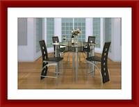 Counter height glass dining table with 4 chairs Pikesville, 21208