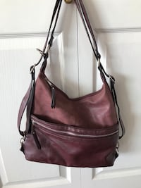 Backpack becomes a purse -(leather and suede) New Westminster, V3M 1N1