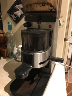 stainless steel and lack espresso machine