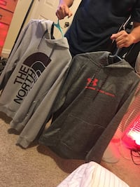 gray and black Adidas pullover hoodie Raleigh, 27606