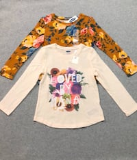 2 New girls long sleeve shirts. 4T