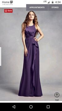 Plum / purple dress Vera Wang Toronto, M5T