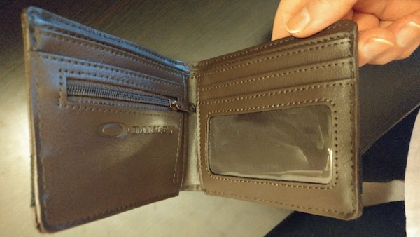 f8e5aec3a2e8d Used Oakley Men s Dry Goods Brown and Black Wallet for sale in ...