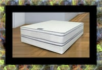 Queen mattress double pillow top with box spring 55 km