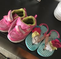 toddler's two pairs of pink and white shoes Calgary, T3G 5J2