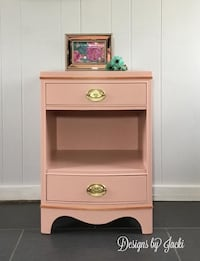 Coral wood night stand