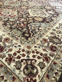 white, brown, and black floral area rug Lake Forest Park, 98155