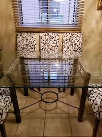 Glass table with 6 chairs Montreal, H8N