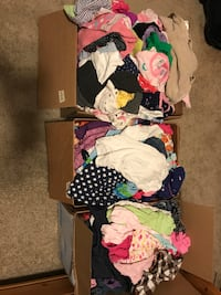 Girls 6-12 month clothes (3 boxes)