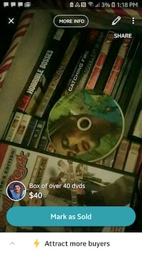 over 40 dvds in box Baton Rouge, 70817