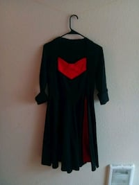 Red and black pin up style dress