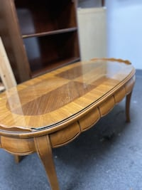 Oval Coffee Table with Glass Top Chicago