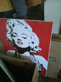 white and red Marilyn Monroe painting Spokane, 99212