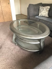 Round clear glass top coffee table Talent, 97540