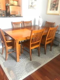 Mission Style 7 Piece Dining Room Set Alexandria, 22314