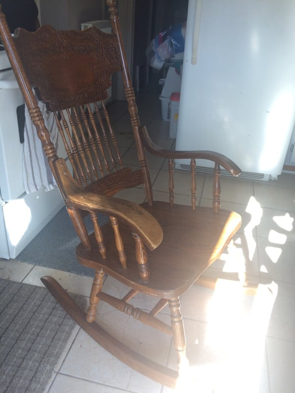 Antique rocking chair as is 1