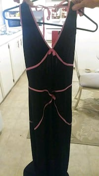Long Pink and Black Prom Cocktail Dress Las Vegas, 89104