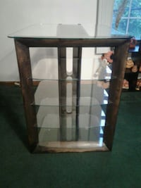 5 tier glass shelf front, side, and back view  Pittsburgh, 15234
