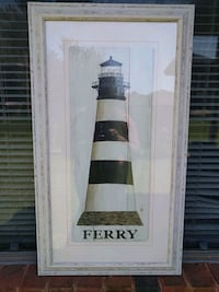 Framed painting of lighthouse Oklahoma City, 73179