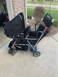 Joovey Caboose Double stroller sit and stand  Belleville, 48111