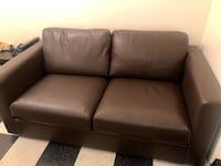 IKEA Leather Loveseat - New Condition