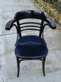 black and brown wooden chair