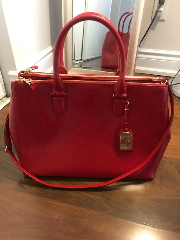 bd2b2d64f664 Used Ralph Lauren large leather tote for sale in Mississauga - letgo