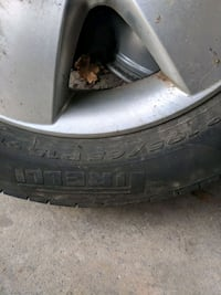 black car wheel with tire Mississauga, L4W 2X1