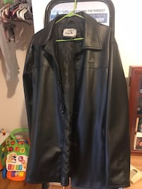 black leather button-up jacket Front Royal, 22630