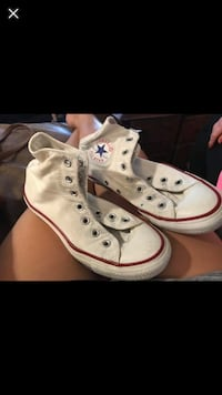 pair of white Converse All Star high-top sneakers McKinney, 75070