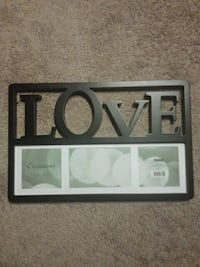 "Black ""love"" picture frame"