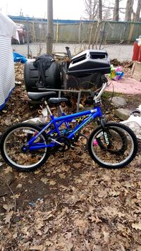 blue and white BMX bike-Supercycle Toronto, M1L 3Z3