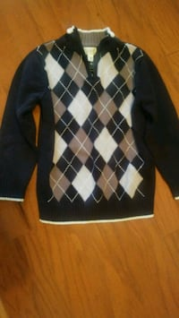 black and white argyle sweater Port Clinton, 43452