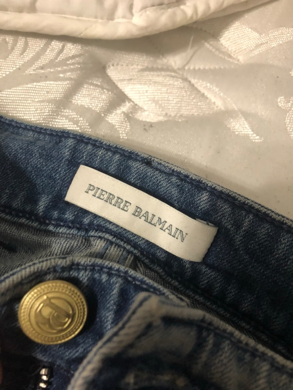 2ae79bb6 white Pierre Balmain product tag. HomeFashion and Accessories Upper Darby