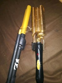 Curling iron wave iron
