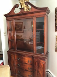 brown wooden framed glass display cabinet Falls Church, 22044