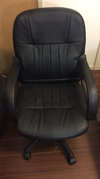 black leather office rolling armchair Rowland Heights, 91748