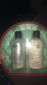 Snow angel labeled bottle gift set  limited addition Abbotsford
