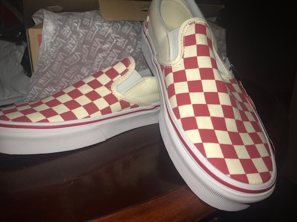 Used New Red   White Checkered Vans 7.5 Men s 9.0 Women s for sale in  Atlanta 6a2a204ee