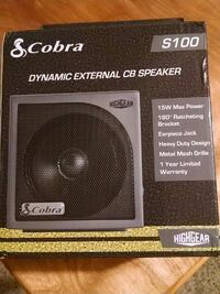 Cobra s100 dynamic external cb speaker