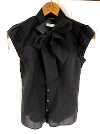 New w/Tags! CLUB MONACO Black Bow Elisa Shirt - Size M - Retails for $89 Markham, L3P 3L9