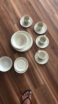 white ceramic plates and cups Gatineau, J9J 0G2