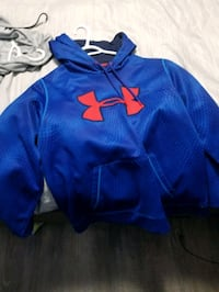 blue and red Under Armour pullover hoodie Spruce Grove, T7X 0H5