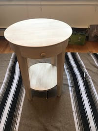brown wooden round side table Cambridge, 02140