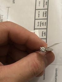 14k white gold 0.48ct diamond ring for sales size  6 多伦多, M6J 1T8