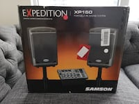 Samson XP150 Portable PA 6-Inch 2-way Monitors with Removable 5-Channel 2 x 75W Powered Mixer Toronto