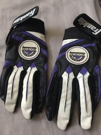 Pair of black-and-white leather gloves